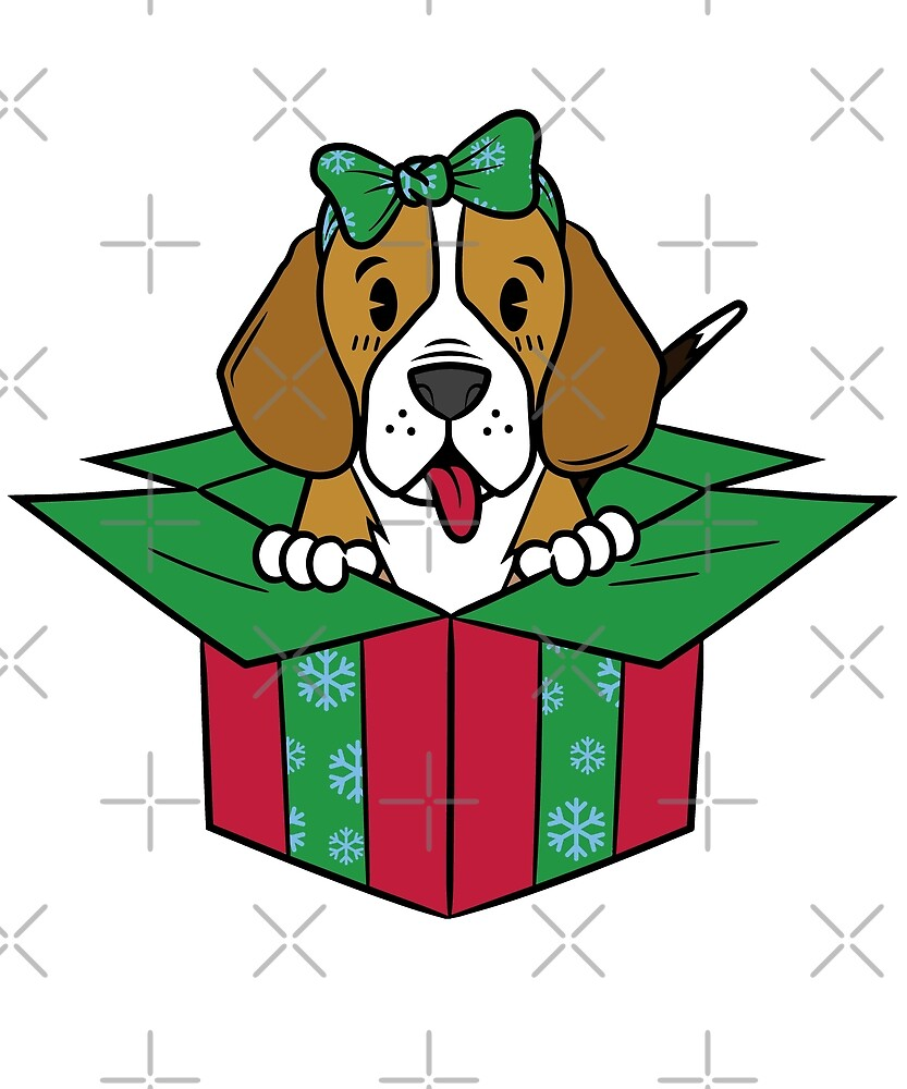 Funny Beagle Xmas Present Christmas by ilovepaws