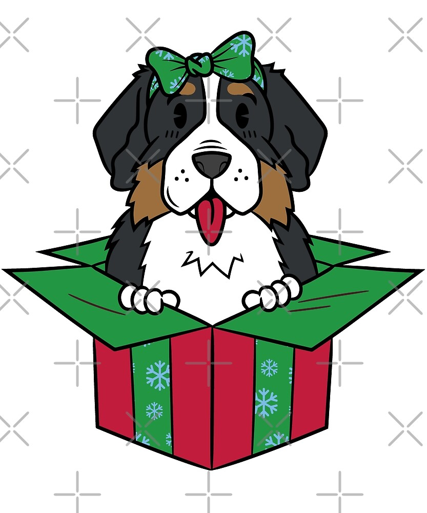 Funny Bernese Mountain Dog Xmas Present Christmas by ilovepaws