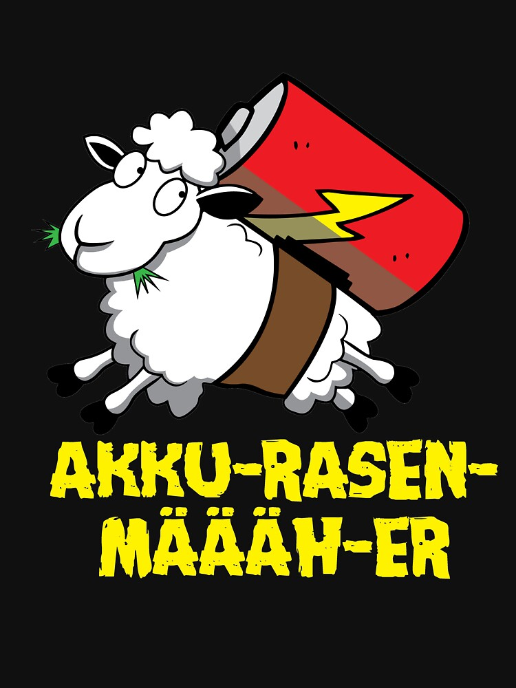 Rechargeable Lawnmower Mower Sheep funny animal by HumbaHarry