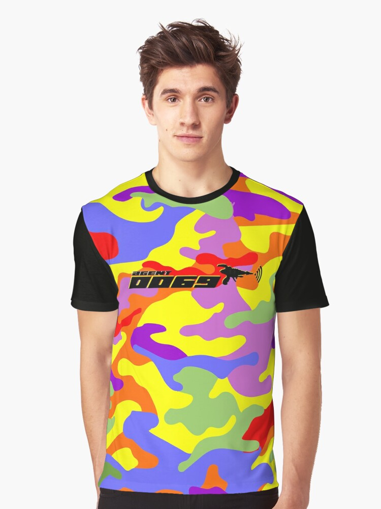 Gaymouflage - Agent 0069 Graphic T-Shirt Front