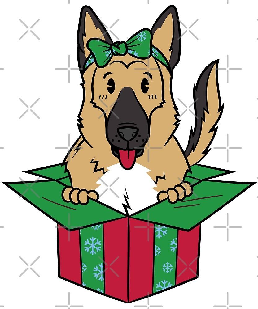 Funny German Shepherd Xmas Present Christmas by ilovepaws
