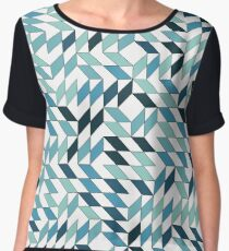 Abstract pattern with deformed and colored square Chiffon Top
