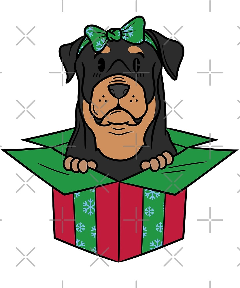 Funny Rottweiler Xmas Present Christmas by ilovepaws