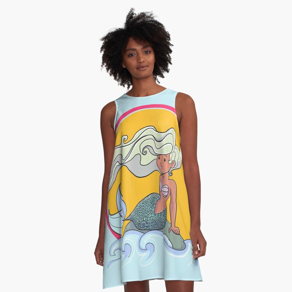 Sunset Mermaid A-Line Dress