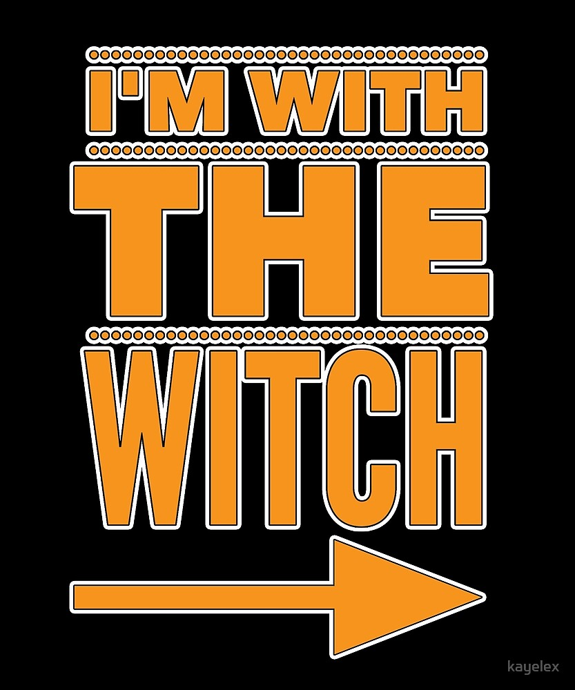 I'm With the Witch Funny Halloween Couple Costume Image by kayelex