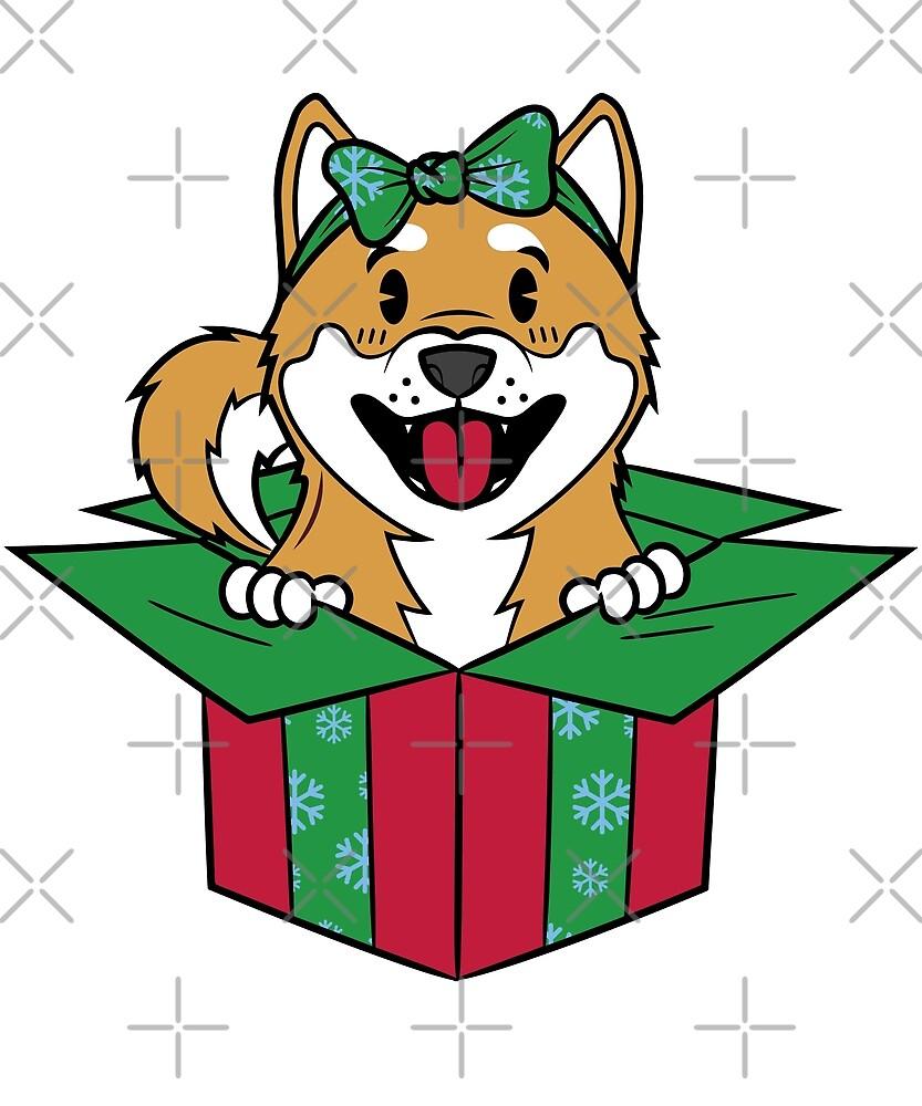 Funny Shiba Inu Xmas Present Christmas by ilovepaws