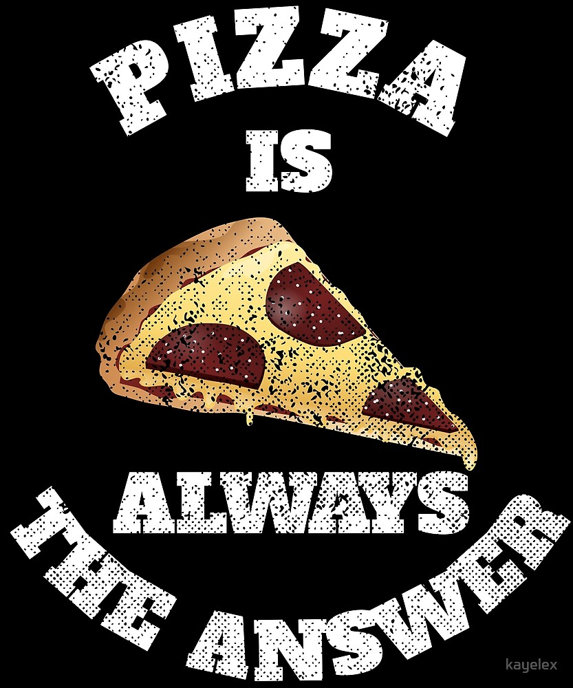 Funny Pizza Lover Slice Pepperoni Cheese Gift Design by kayelex