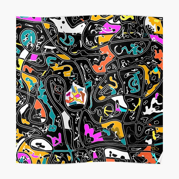 Amaze abstract multicolored  Poster