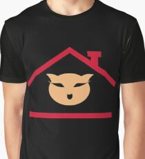 Cat House Graphic T-Shirt