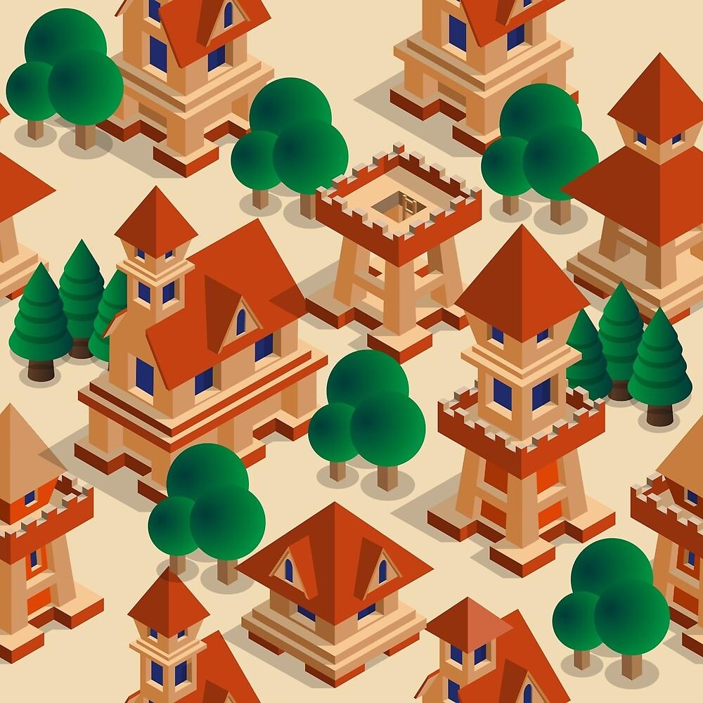 Medieval city. by Yauheni