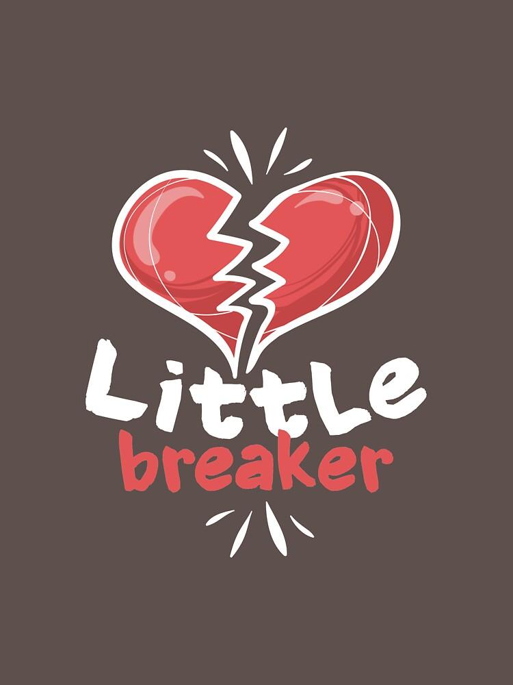Love Shirt Little Heart Breaker For Boys Girls by artbyanave