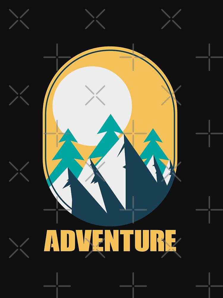Outdoor Adventure Trees Mountain Sunshine - Gift Idea by vicoli-shirts