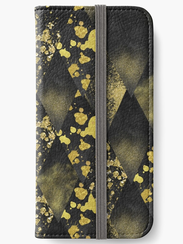 DRAGON SCALES - geometric black and gold by cadinera