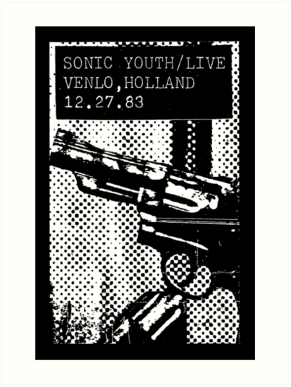 Sonic Youth Live, Venlo, Holland 1983 -Art Rock, Noise, Indie,alternative,no wave by carlosafmarques