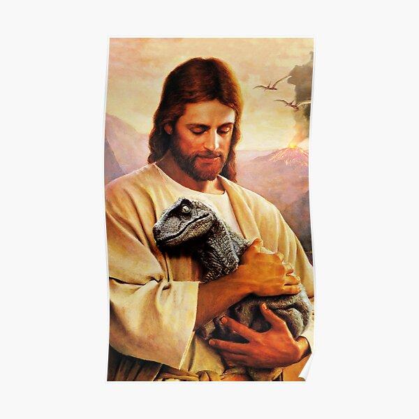 Jesus Raptor Poster