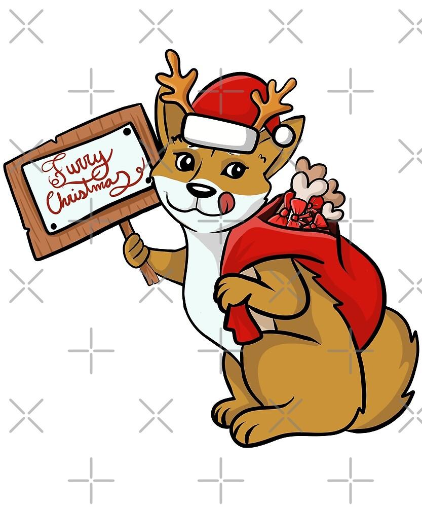 Funny Shiba Inu Furry Xmas Sign Christmas by ilovepaws