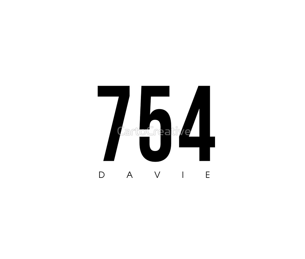 Davie, FL - 754 Area Code design by CartoCreative