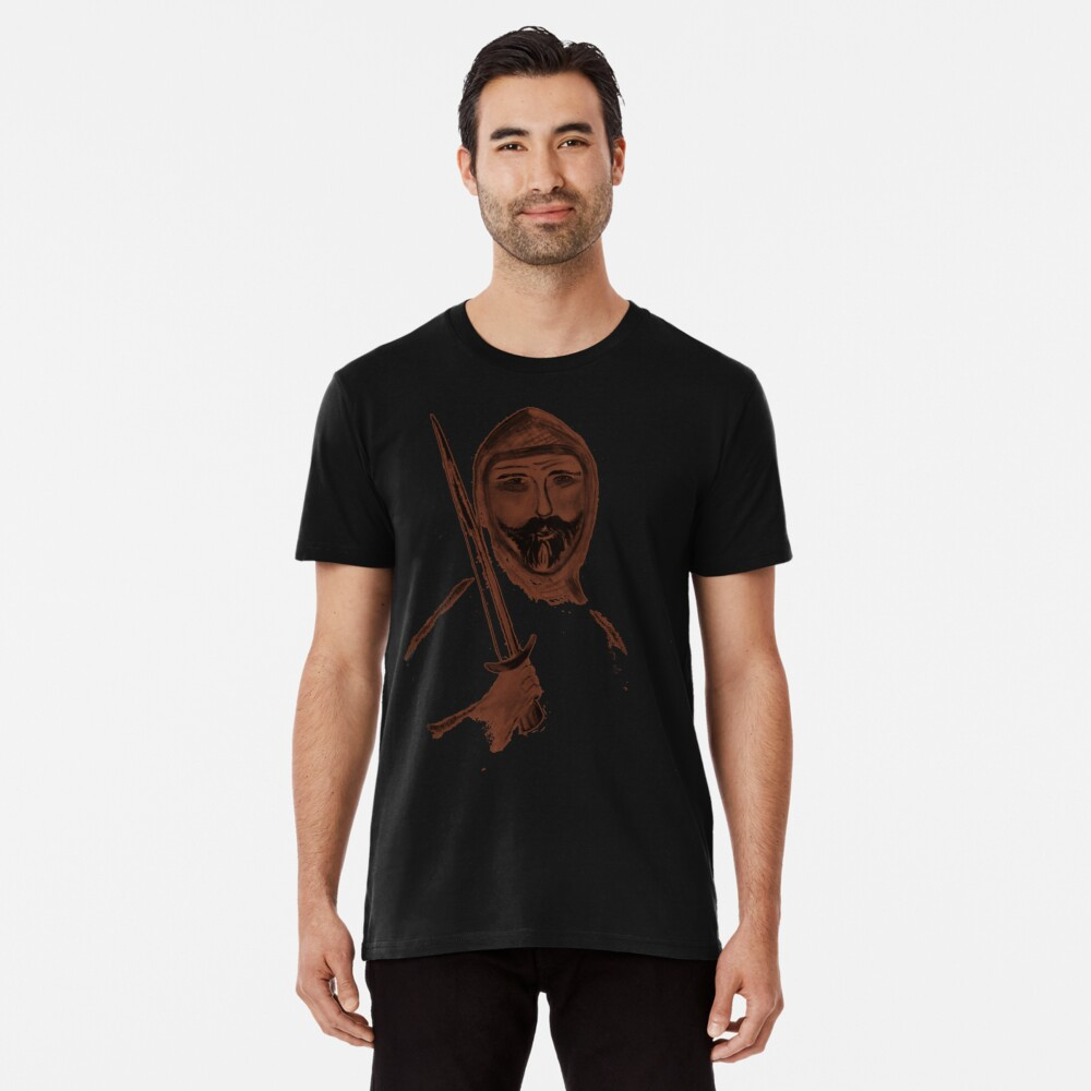 Knight with a sword Men's Premium T-Shirt Front