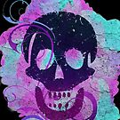 Decorative grunge skull distressed by Anteia