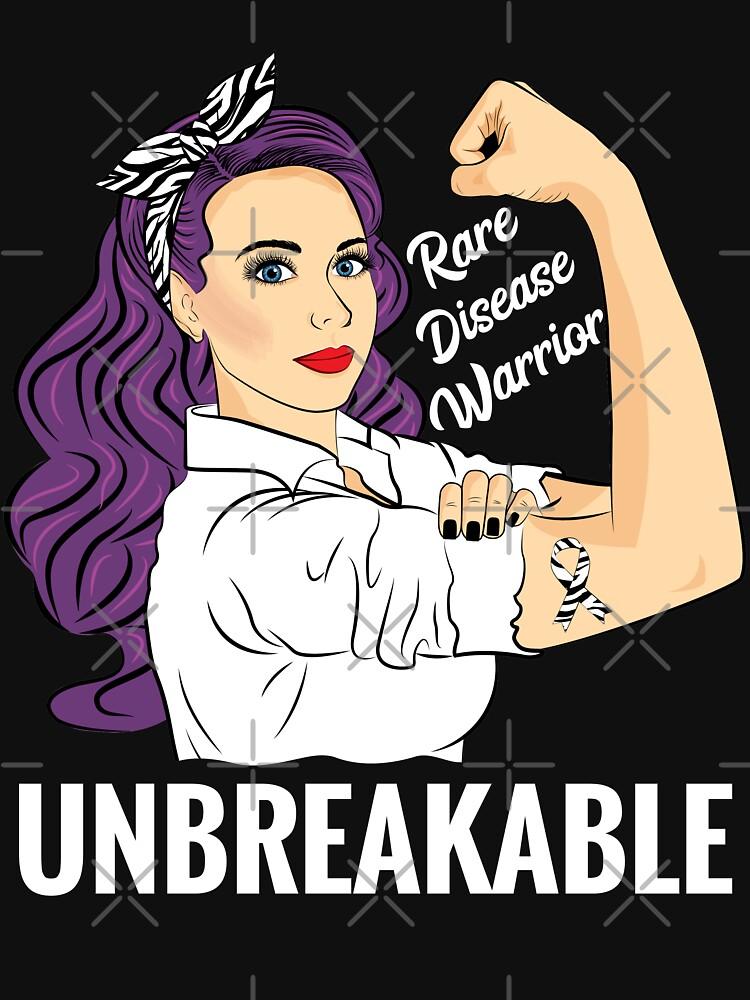 Rare Disease Awareness Shirt Warrior Unbreakable T Shirt by ZNOVANNA