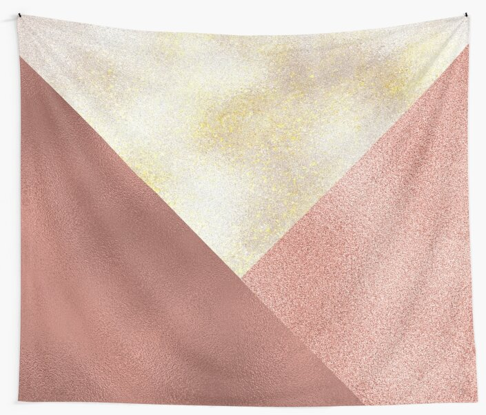 Whimsy Shimmer - metallic rose gold, pearl, pink textures by cadinera