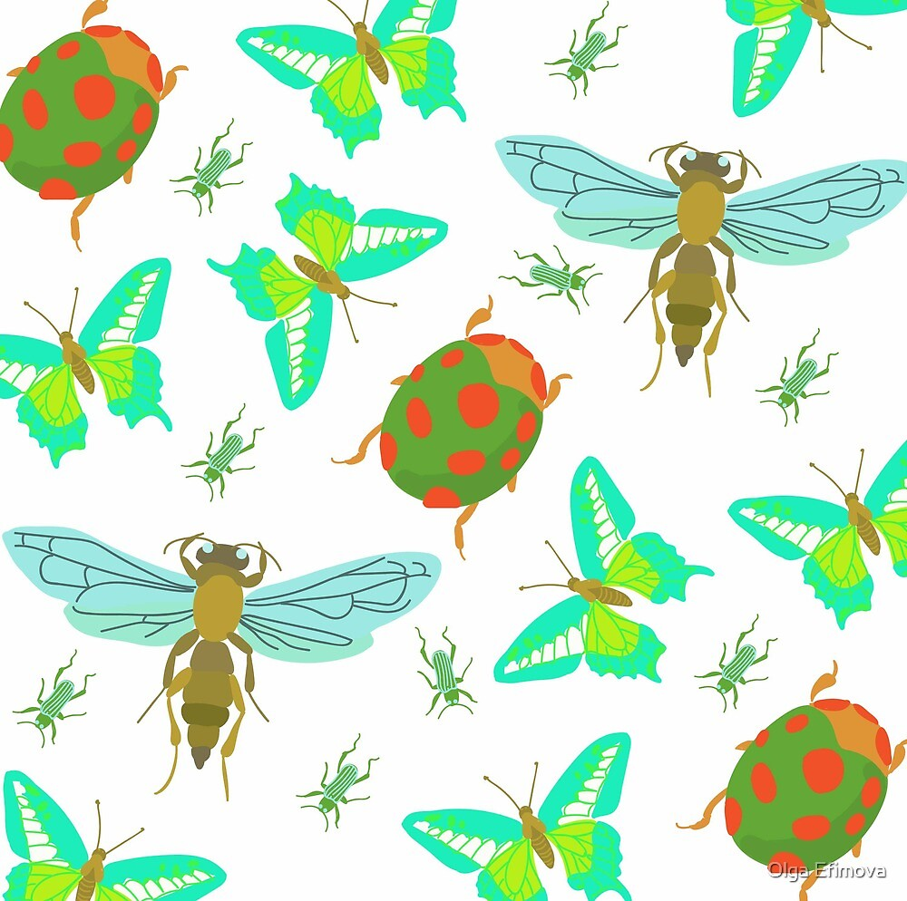 spring insects by Olga Efimova