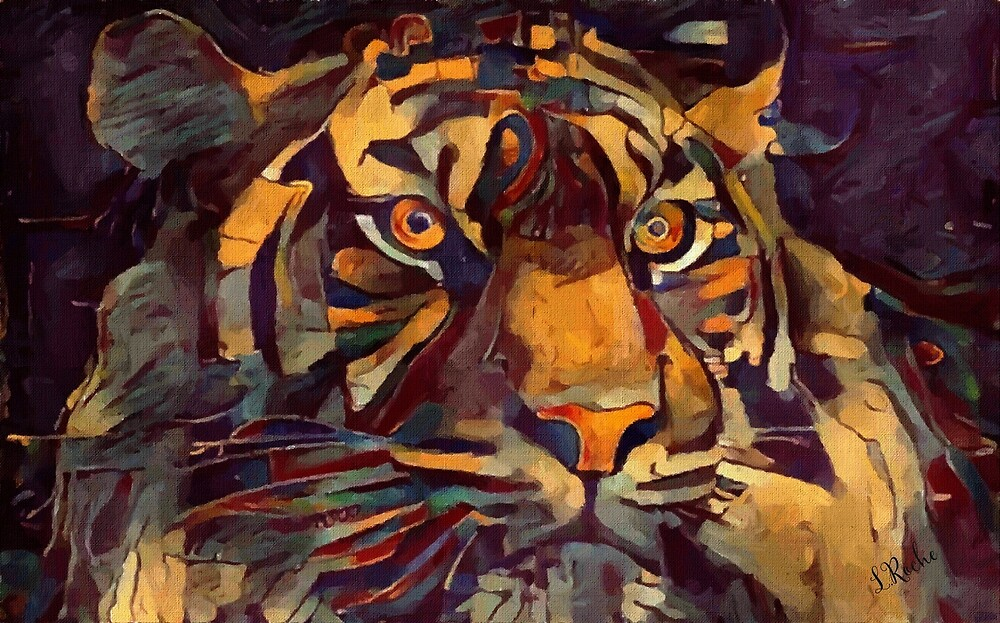 Tiger Nº 26 - Léa Roche paintings - tiger, tiger by LEAROCHE