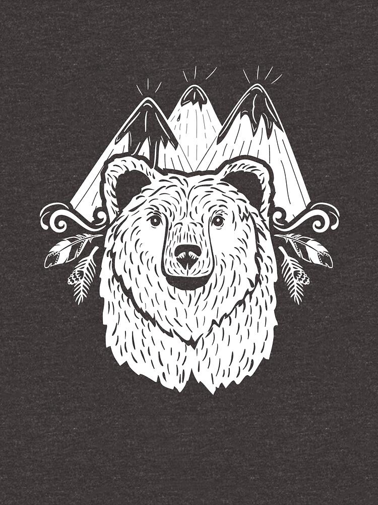 Hiking Shirt Mountain & Bear Backpacking Explorer Tee by artbyanave