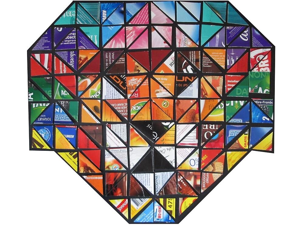 Rainbow Lion Mosaic by Ruud van Koningsbrugge