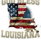 Gott segnen Louisiana-Geschenk stolzes starkes ehrfürchtiges Entwurfs-Geschenk von djpraxis