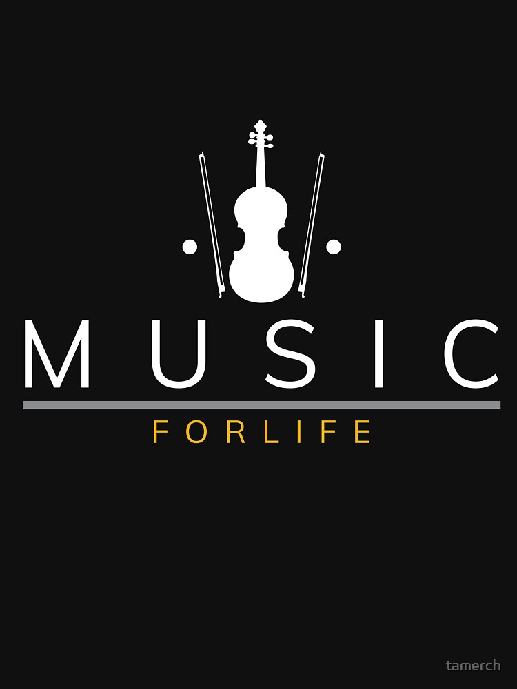 Music for life saying violin violin by tamerch