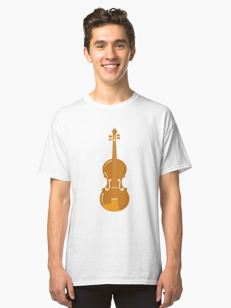 Violin drawing children illustration violin Classic T-Shirt Front