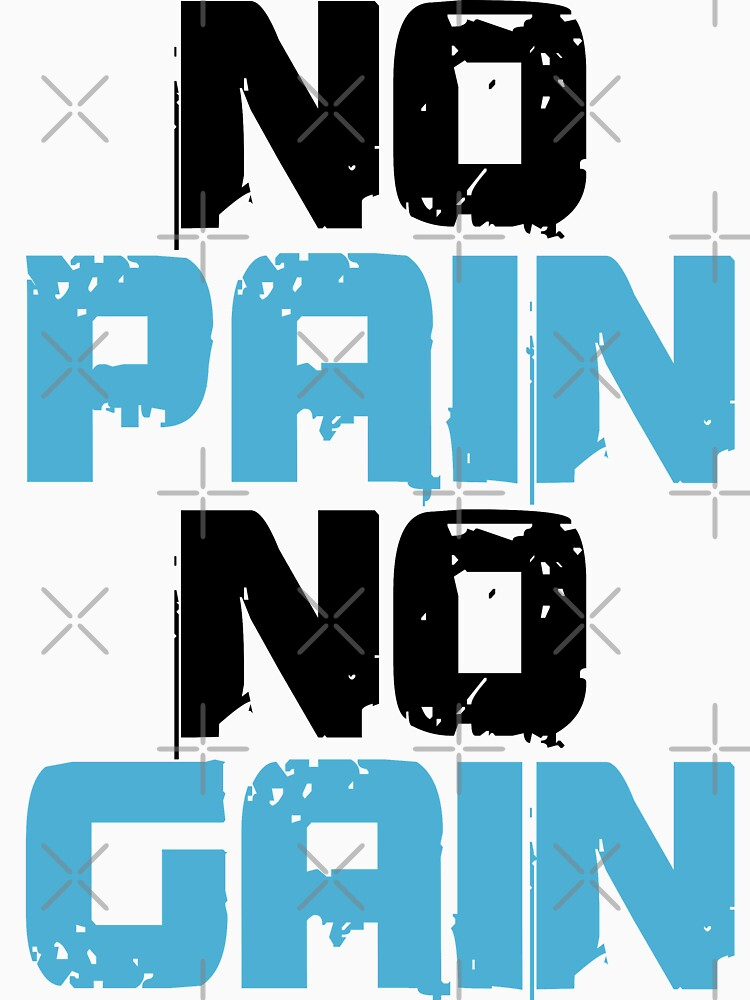 No Pain No Gain Bodybuilding Workout Gym Muscle by pronyctech