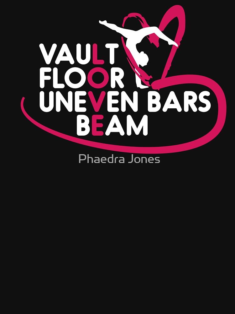 Gymnastics Leotard Love Vault Floor Uneven Bars Beam Unisex Shirt by Top10Merch