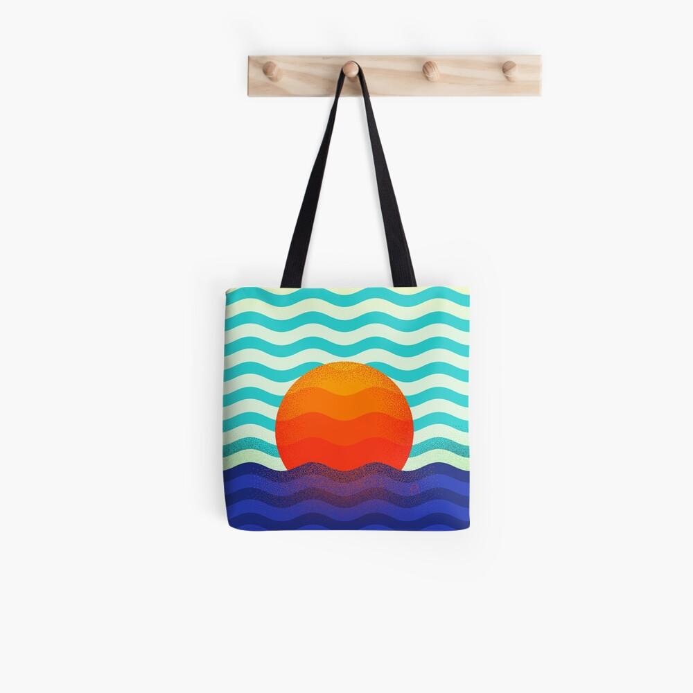 Swimming at the sunrise Tote Bag