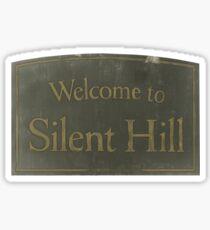 Pegatina Bienvenido a la colina silenciosa
