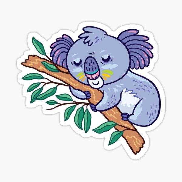 koalas in the eucalyptus forest Sticker