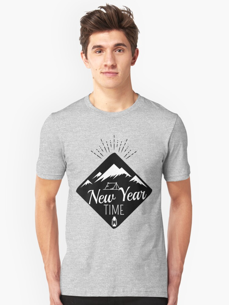 New Year Time Camping  Unisex T-Shirt Front