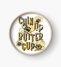 Chin Up Butter Cup Clock