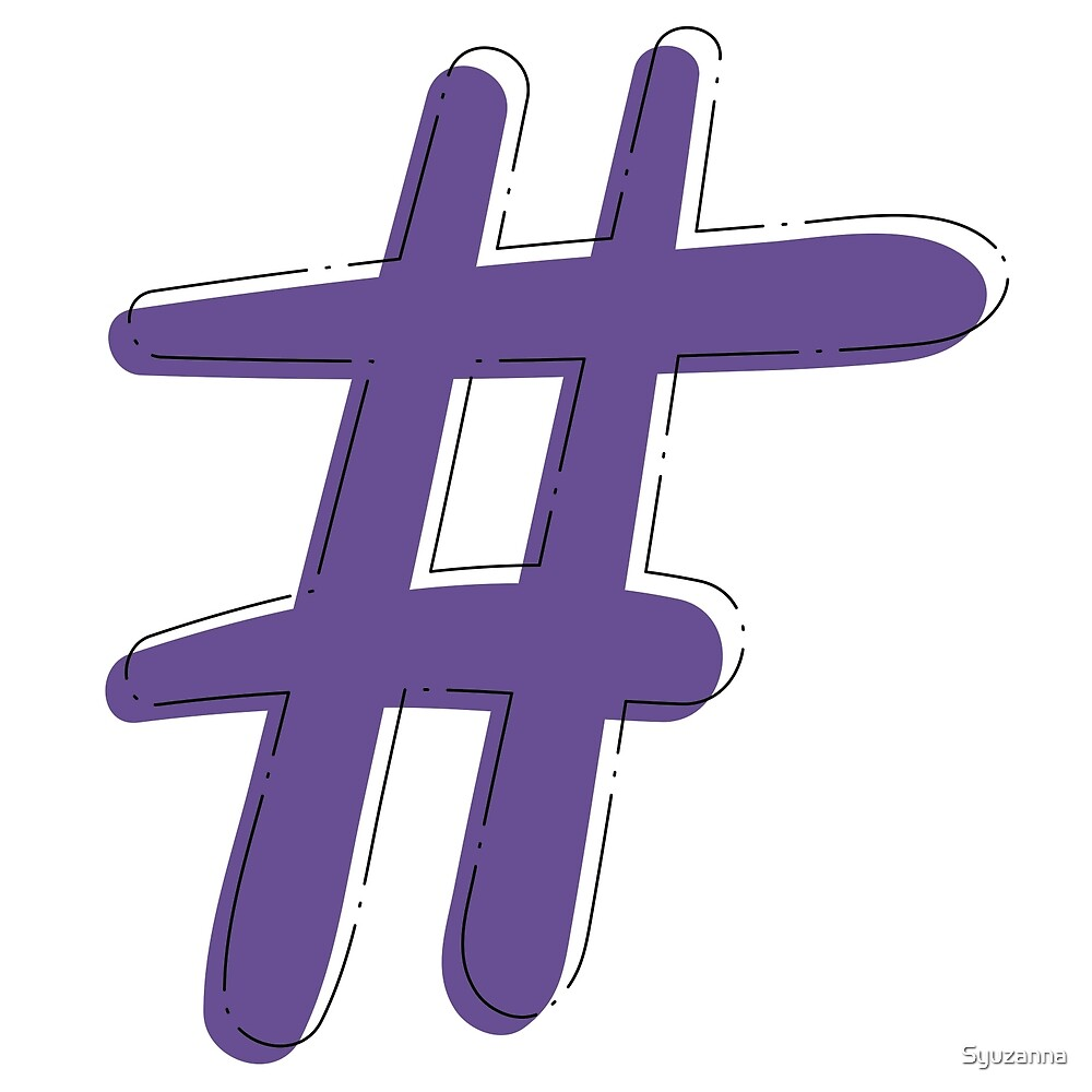 Hashtag sign by Syuzanna