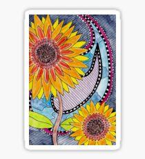 Santana's Sunflowers Sticker