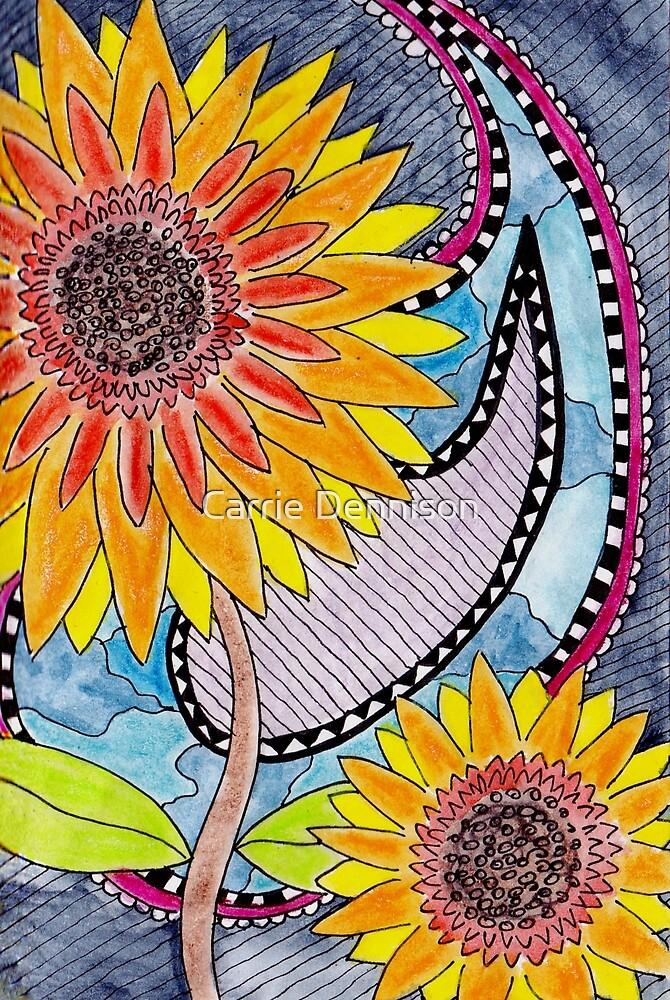 Santana's Sunflowers by Carrie Dennison