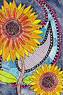 Santana's Sunflowers by Carrie Dennison