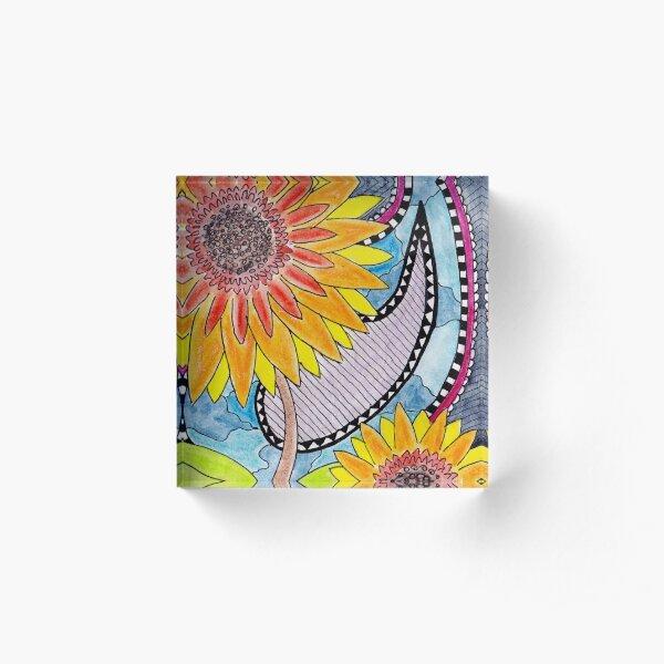 Santana's Sunflowers Acrylic Block