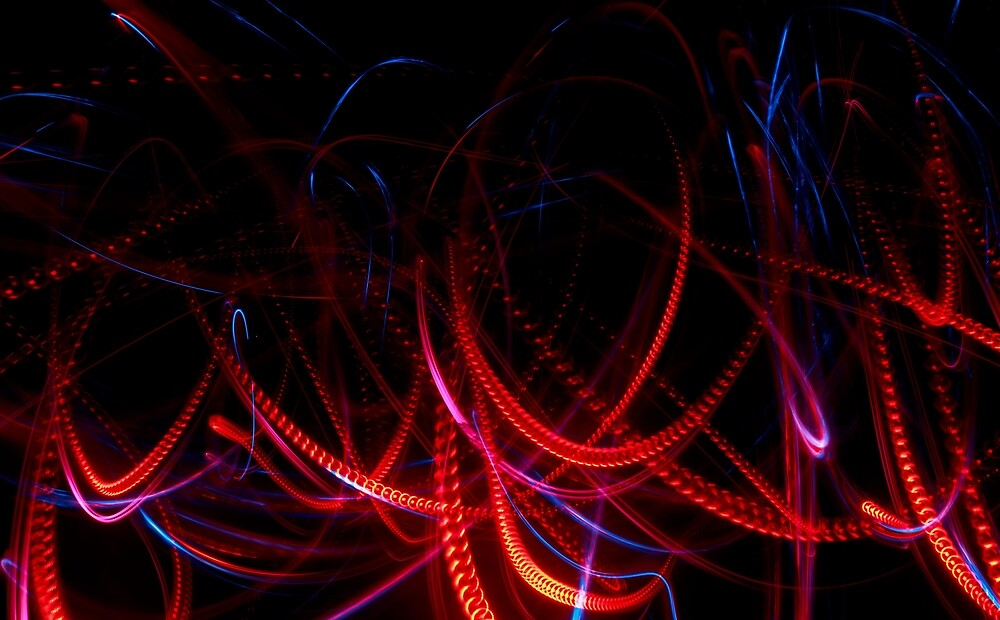 Abstract red and blue light effect by Astronomiseme24