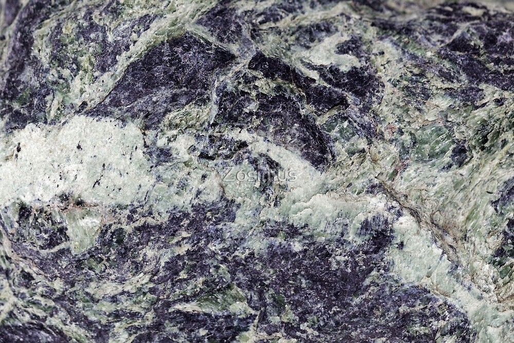 Green serpentinite rocks from the Alps by Zosimus