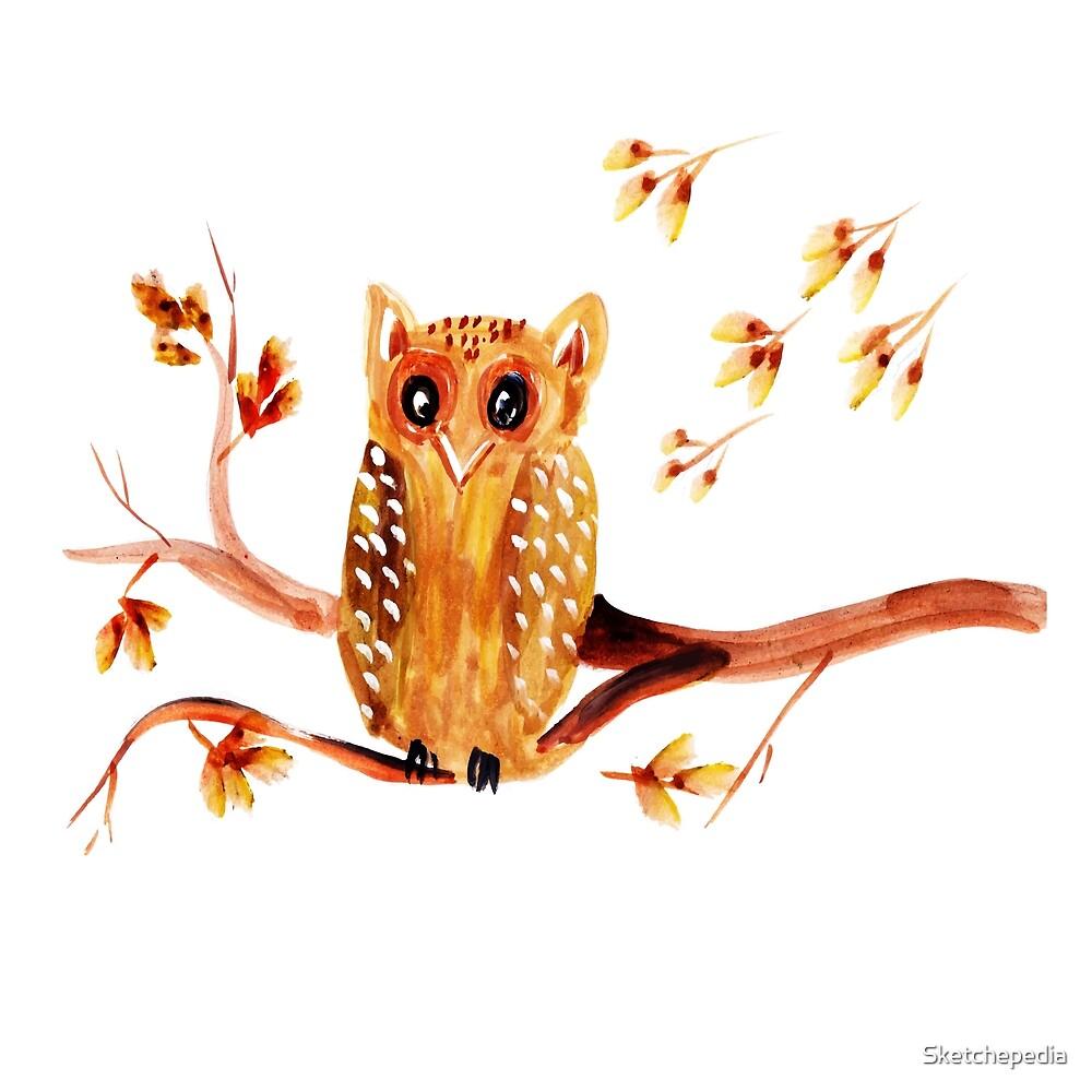 Beautiful Watercolor Autumn Element by Sketchepedia