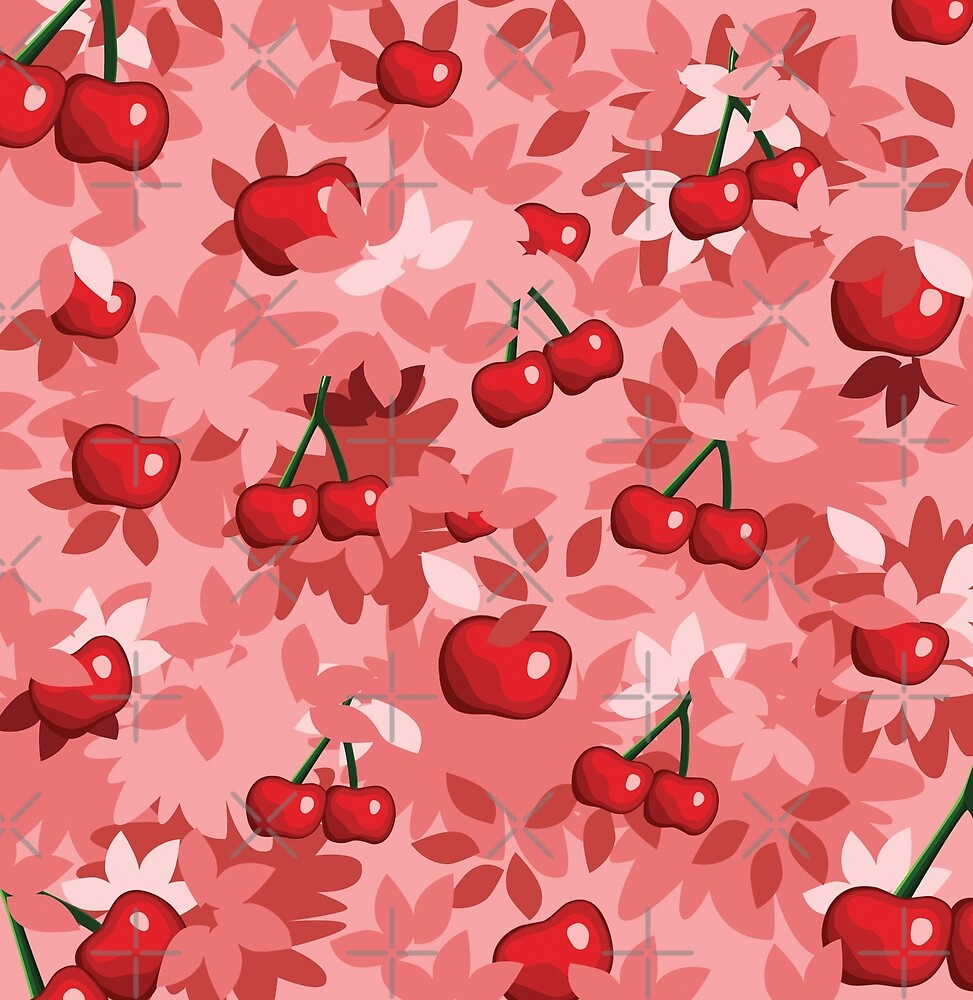 Cherry fruit fields by Mo Mimo