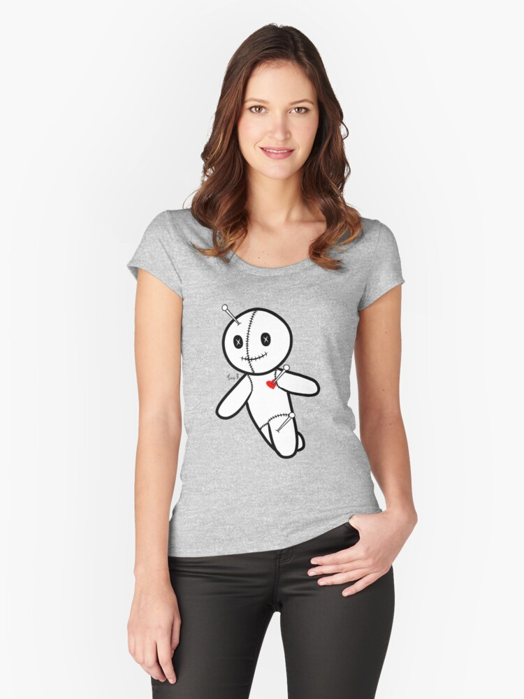 My Voodoo Doll's Logo Running Women's Fitted Scoop T-Shirt Front