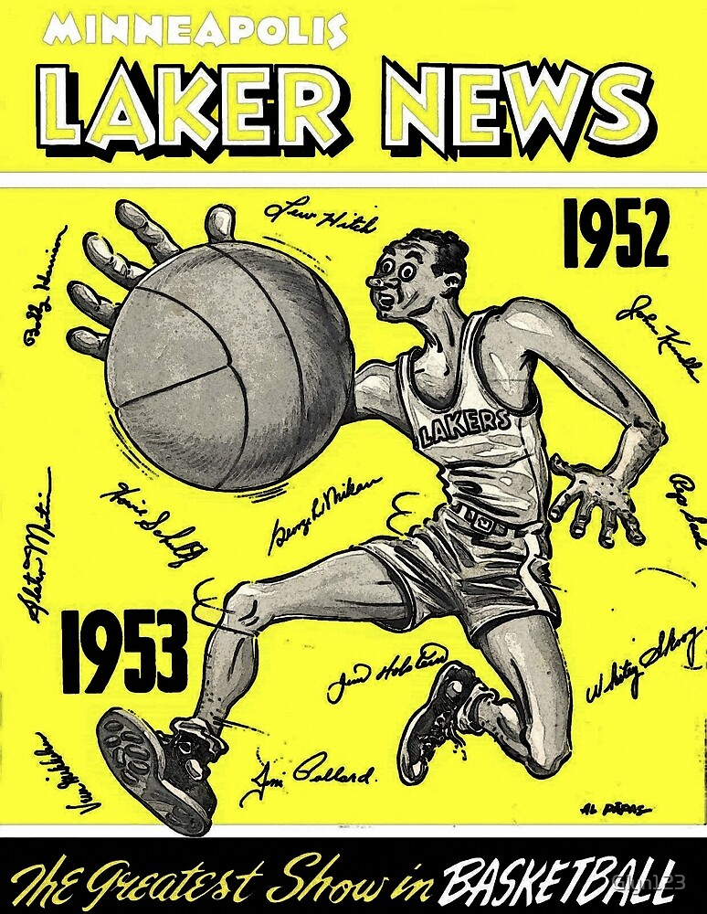 Lakers Minneapolis - Los Angeles Lakers - Retro 50s by Glyn123